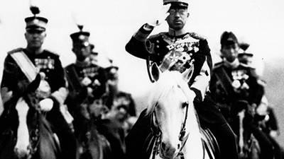 Emperor Hirohito and PM Yoshida poster image