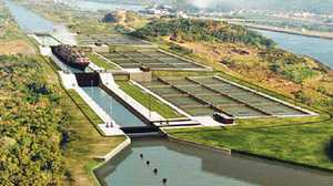 Locks on the Panama Canal poster image