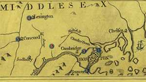 Key Places on April 18-19, 1775 poster image