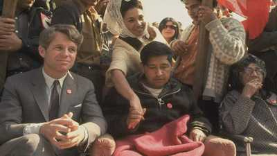 RFK and Cesar Chavez poster image