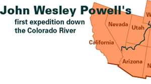 John Wesley Powell's First Expedition Down the Colorado River poster image