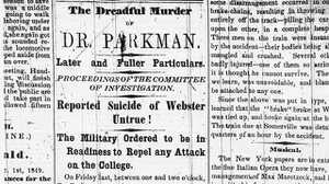 Newspaper Coverage of the Webster Trial poster image