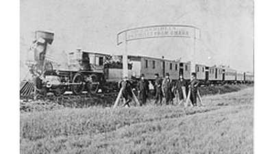 Transcontinental Railroad Timeline poster image