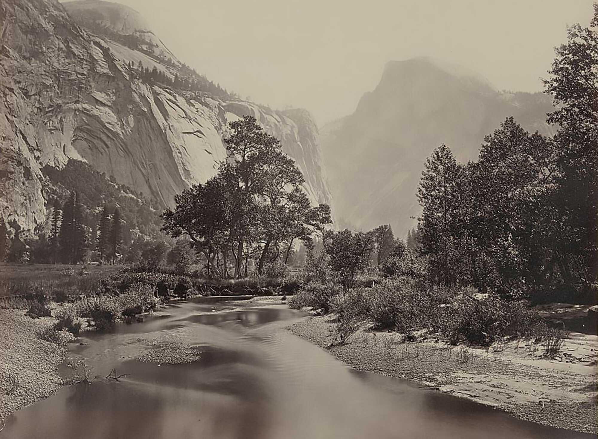 Ansel Ansel Photograh American-Yosemite's-Domes-Watkins,-Carleton-E.,-1829-1916,-photographer-1865-LOC-.jpg