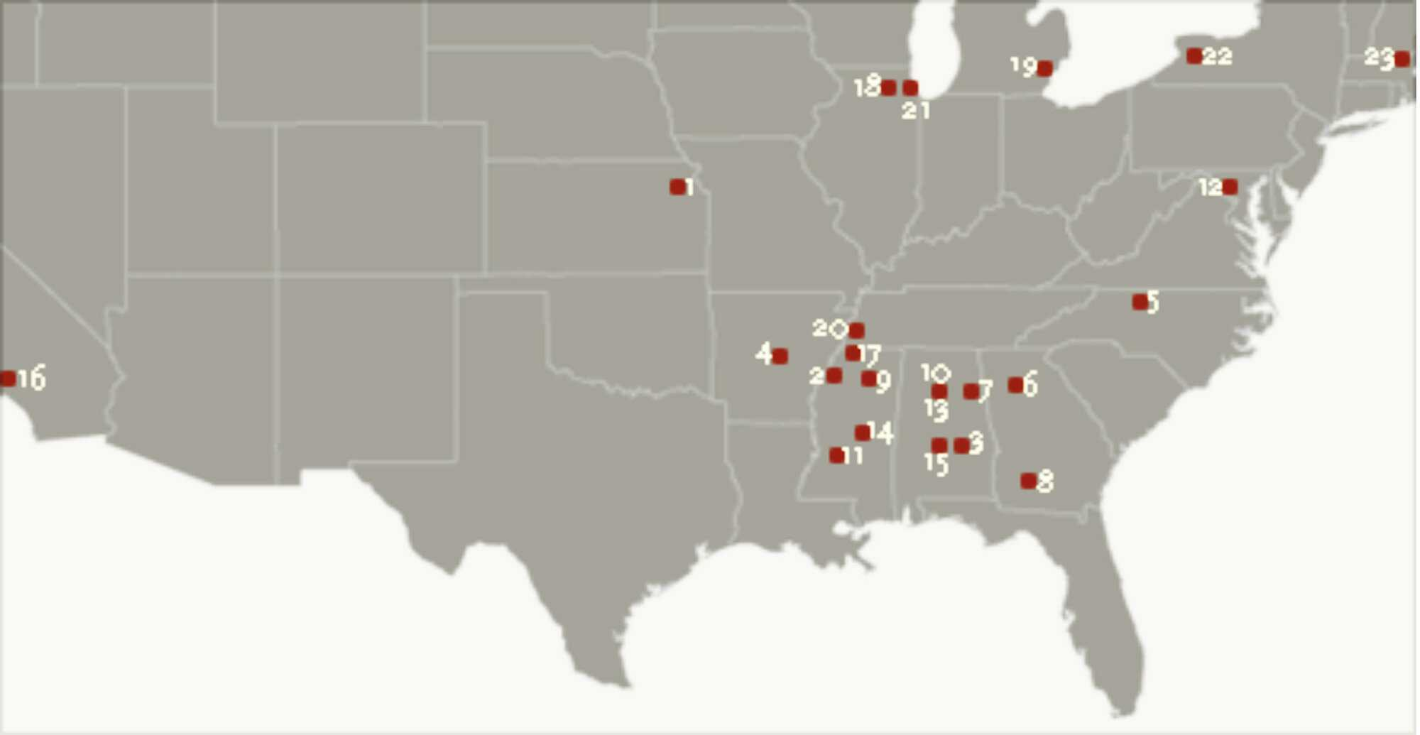 Civil Rights Hot Spots American Experience Official Site Pbs - Us-track-map-it