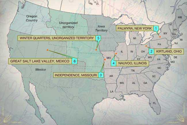 Map Of Arizona Lds Temples.Map Forced Migrations American Experience Official Site Pbs