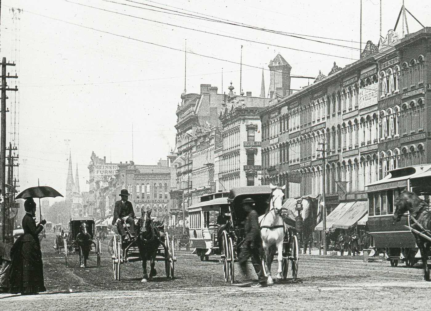Downtown detroit c 1880 courtesy detroit public library burton collection