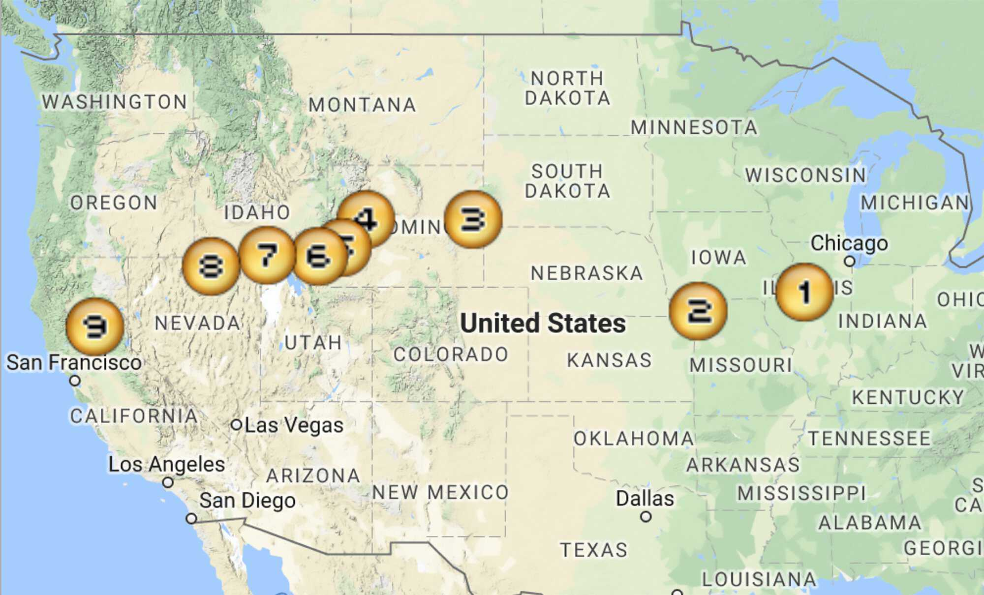 Map of the Donner Party Route | American Experience ...