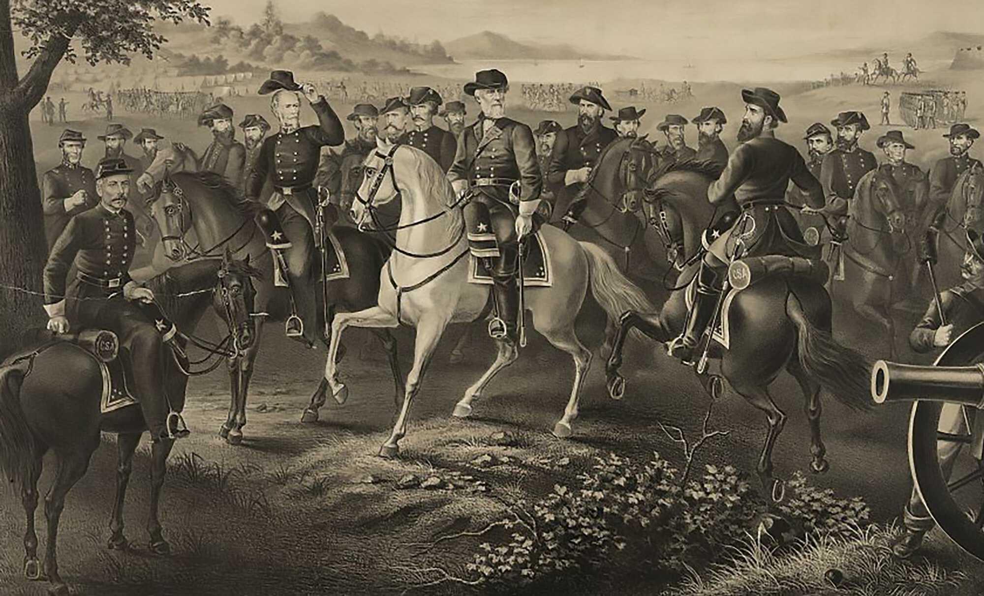 Lee-Surrender-Generals-Robert-E.-Lee-and-21-Confederate-generals,-all-on-horseback-LOC-1867.jpg