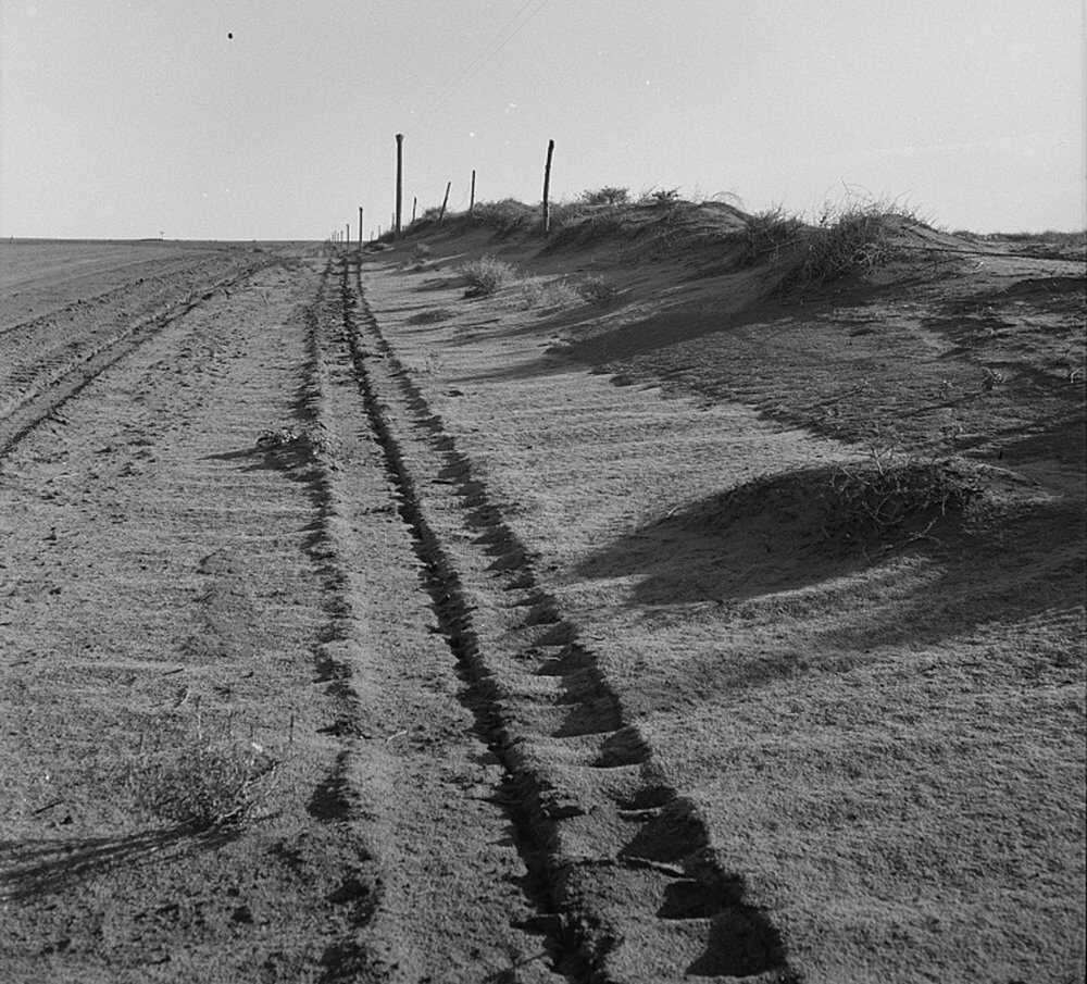 Dust-bowl-Drought-Sand-drift-along-fence.-Dust-Bowl--North-of-Dalhart---Texas-1938-LOC.jpg