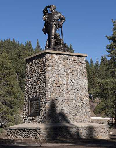 Donner-Teachers-Guide-The-memorial-in-Truckee in Nevada-County-CA-a-few-miles-north-of-Lake-Tahoe-2012-LOC.jpg