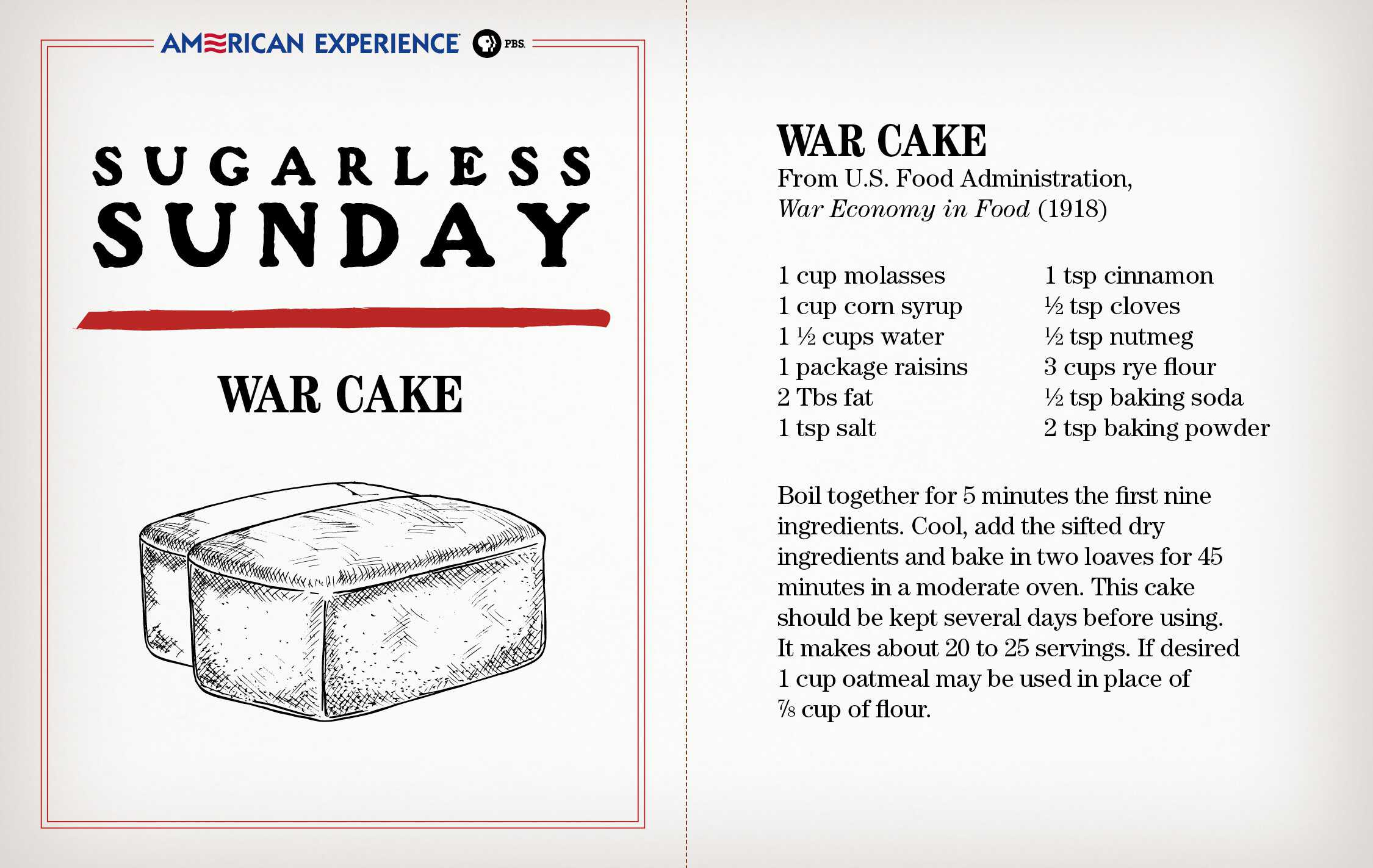 Victory Recipes of the Great War | American Experience