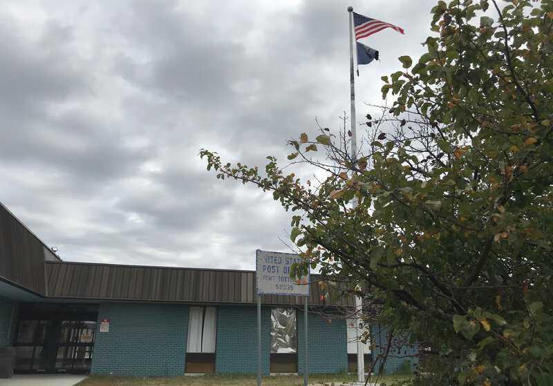 Vote-GroundTruth-Bismarck-Fort-Totten-tribal-office_post-office-sign.jpg
