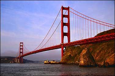 Suspension bridge golden gate bridge san francisco and sausalito