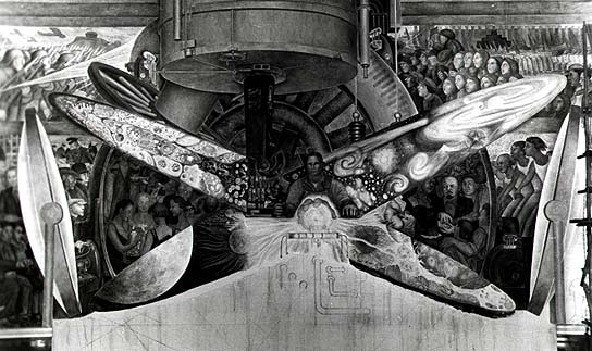Culture shock flashpoints visual arts diego rivera 39 s for Diego rivera rockefeller mural