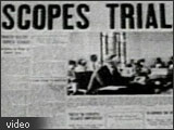 Image of an old newspaper headline from the Scopes Trial.