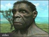 Artists rendition of an evolutionary human ancestor.