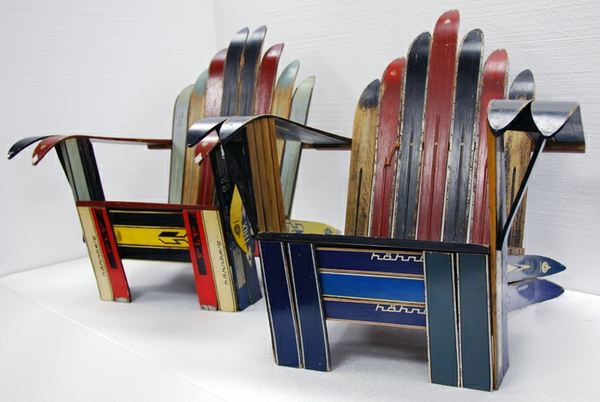 Captivating Vintage Ski Adirondack Chairs