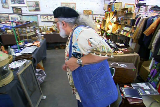 Picker John Bruno looking for items to buy