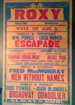 1935 Roxy Theater Movie Poster