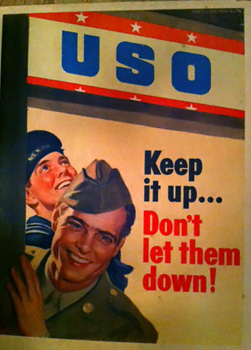 World War II propaganda poster for the United Service Organization (USO)