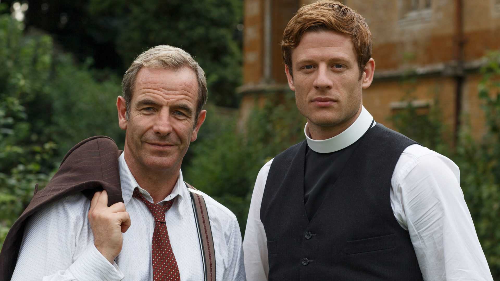 A running vicar detective is presented by pBS Masterpiece in 'Grantchester'