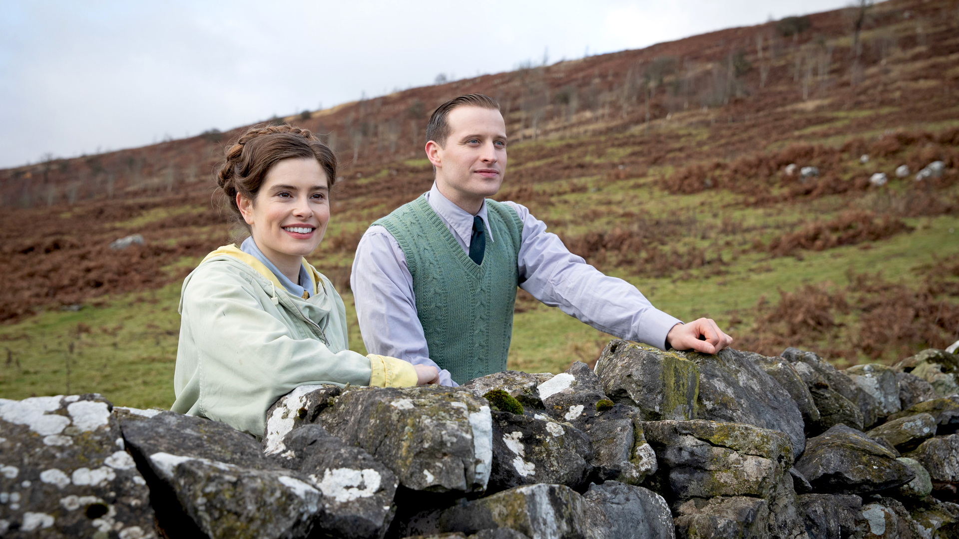 Rachel Shenton and Nicholas Ralph in All Creatures Great and Small on MASTERPIECE on PBS