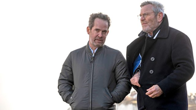 Tom Hollander and Tchéky Karyo in the Baptiste, Season 1 Finale