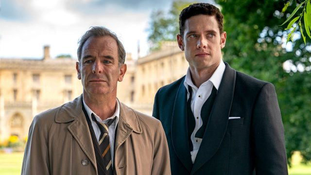 Robson Green as Geordie Keating and Tom Brittney as Will Davenport in Grantchester, Season 5