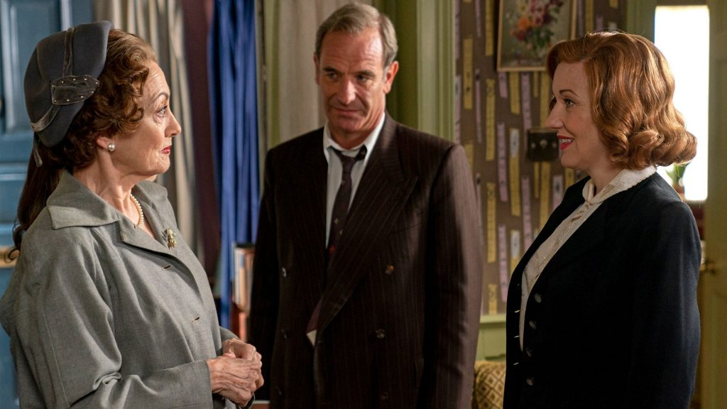 Robson Green and Kacey Ainsworth as Geordie and Cathy Keating in Grantchester, Season 5