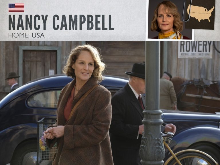 Helen Hunt as Nancy Campbell in World on Fire