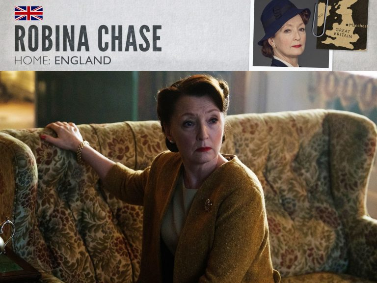 Lesley Manville as Robina Chase in World on Fire