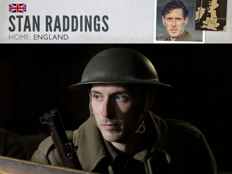 Blake Harrison as Stan Raddings in World on Fire