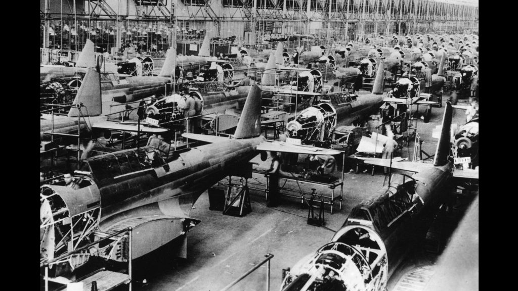 British aircraft production, part of the mobilization in Great Britain, 1939
