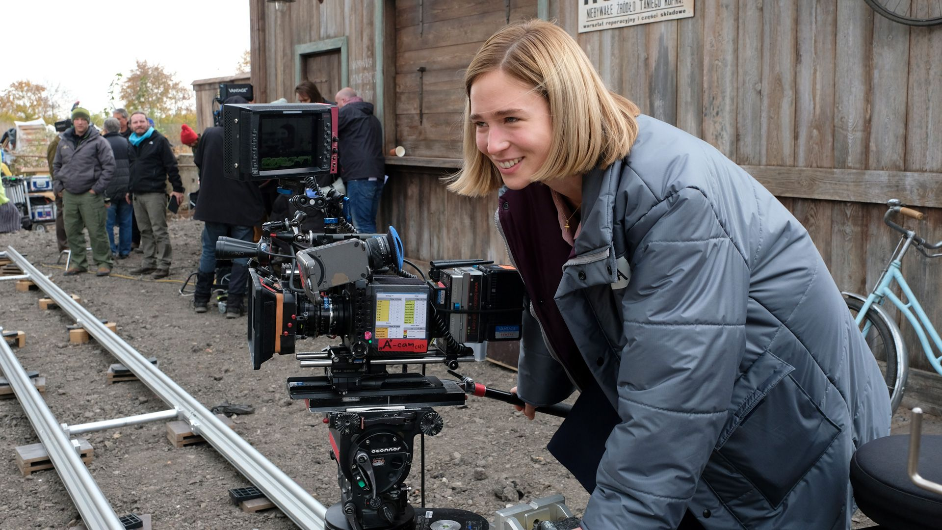 Zofia Wichlacz on the set of World on Fire
