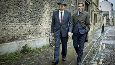 Shaun Evans and Roger Allam in Endeavour Season 7