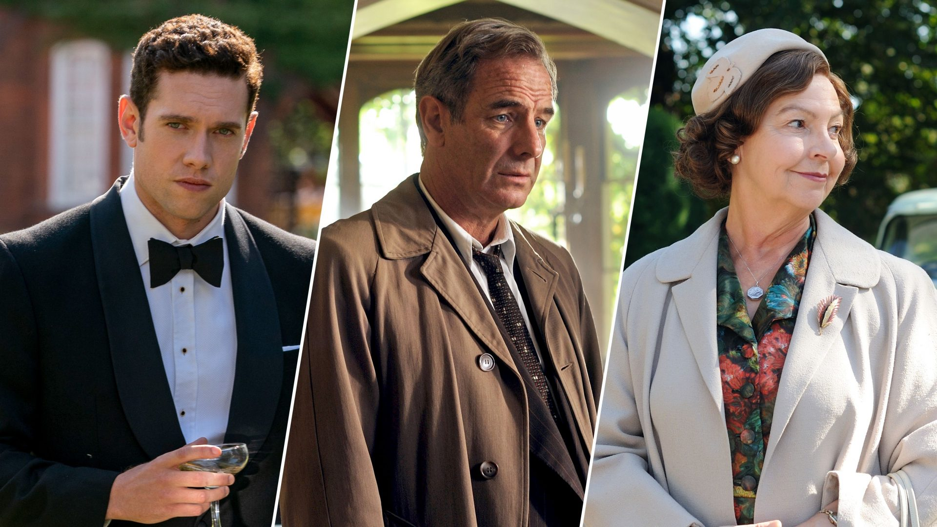 Tom Brittney, Robson Green and Tessa Peake-Jones from the Grantchester Cast