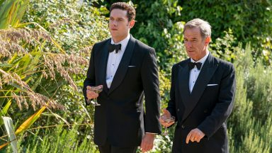 Tom Brittney and Robson Green as Will Davenport and Geordie Keating in Grantchester, Season 5: Episode 1