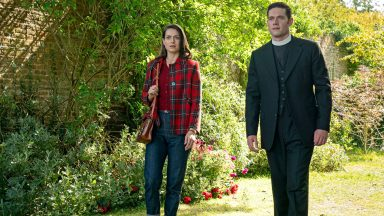 Lauren Carse and Tom Brittney as Ellie Harding and Will Davenport in Grantchester, Season 5: Episode 2