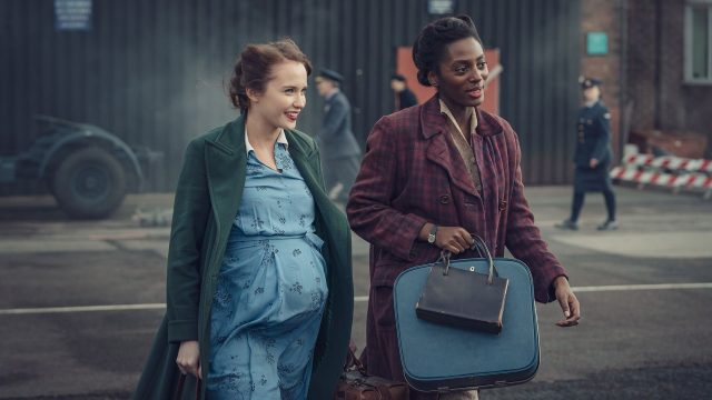 Julia Brown and Yrsa Daley-Ward in World on Fire as seen on Masterpiece on PBS