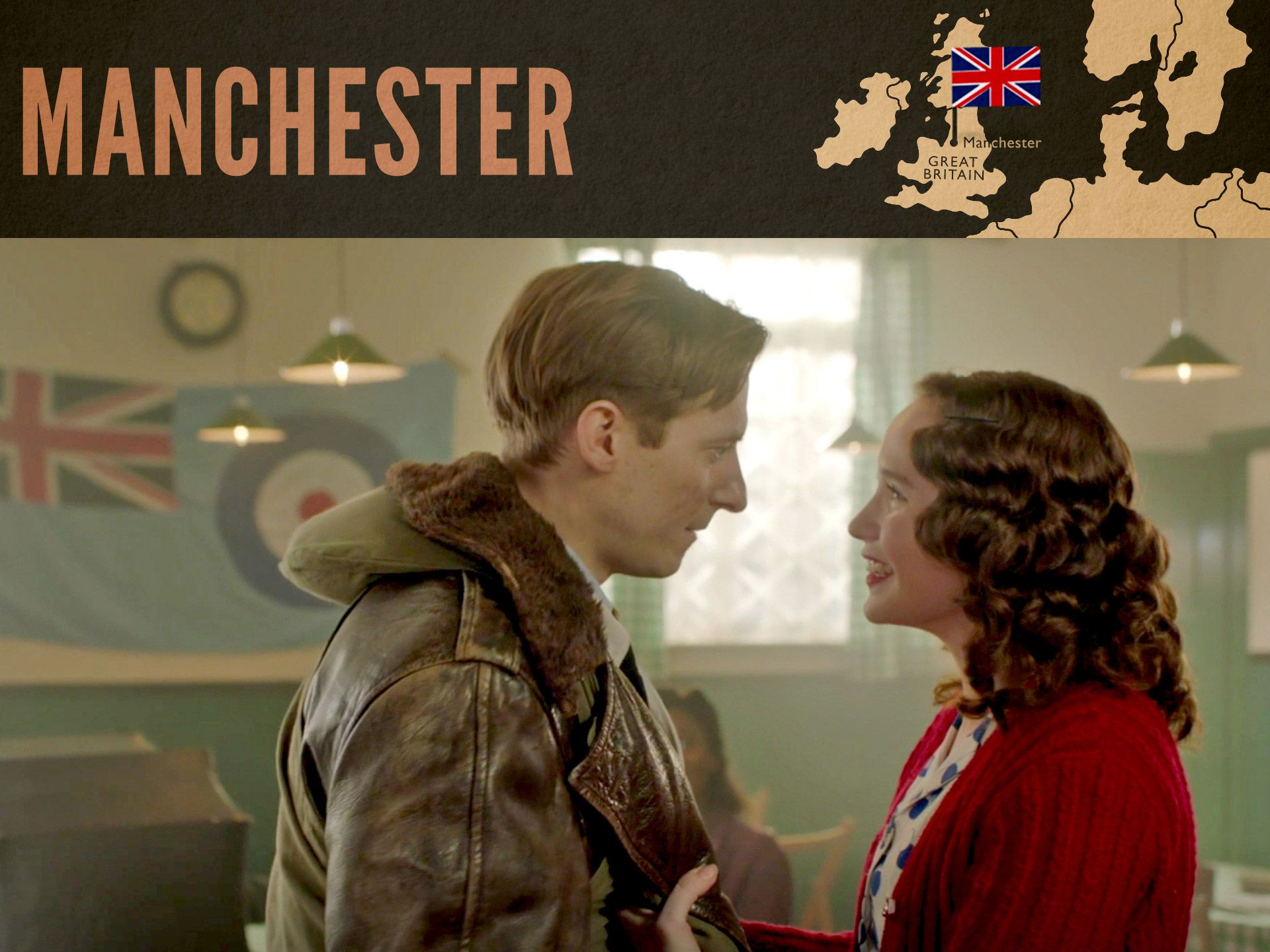 Arthur Darvill and Julia Brown in World on Fire as seen on MASTERPIECE on PBS