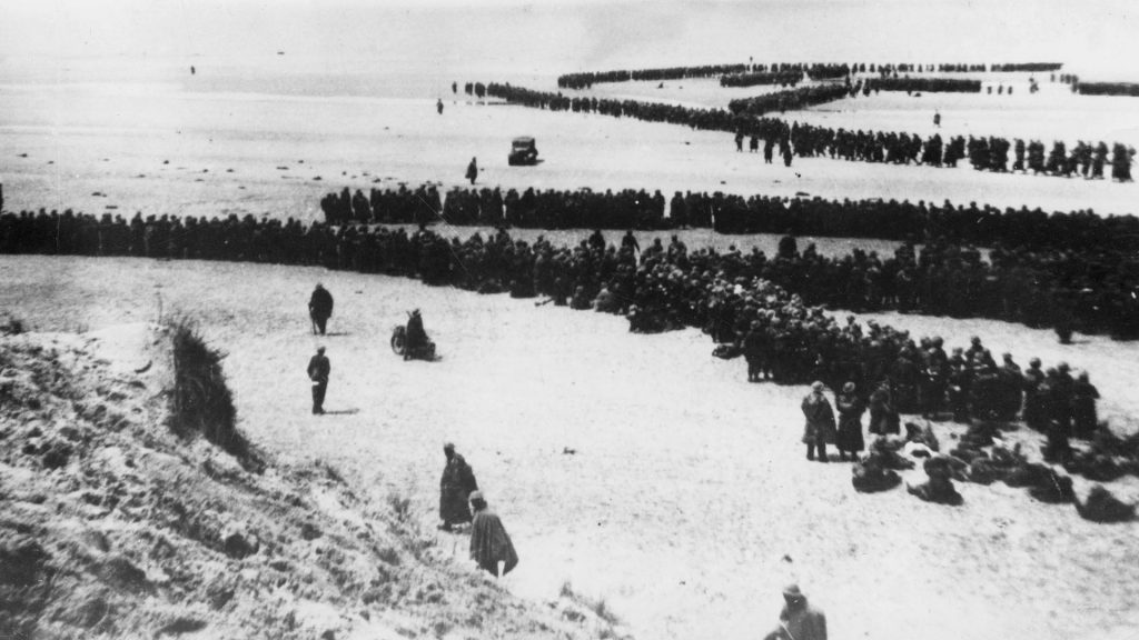Military evacuation of Dunkirk during World War 2. May 26-June 4, 1940.