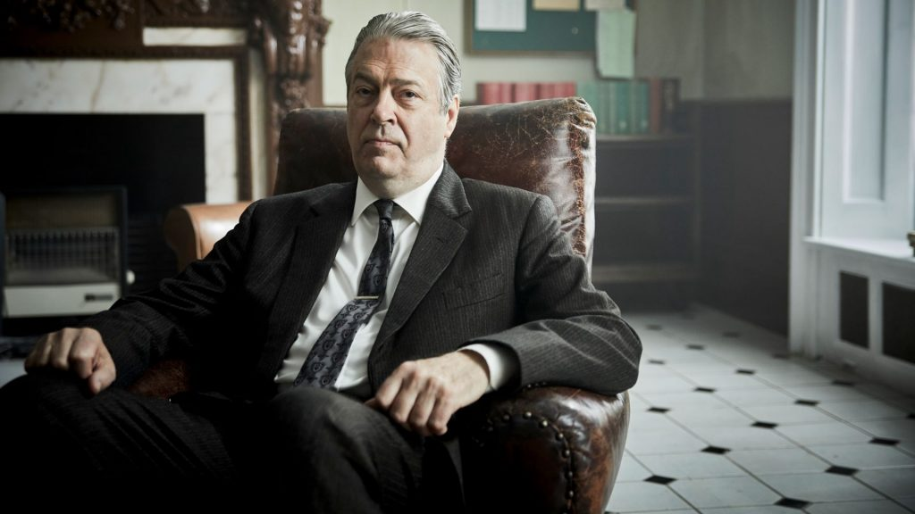 Roger Allam as DCI Fred Thursday in Endeavour Season 7 on Masterpiece on PBS