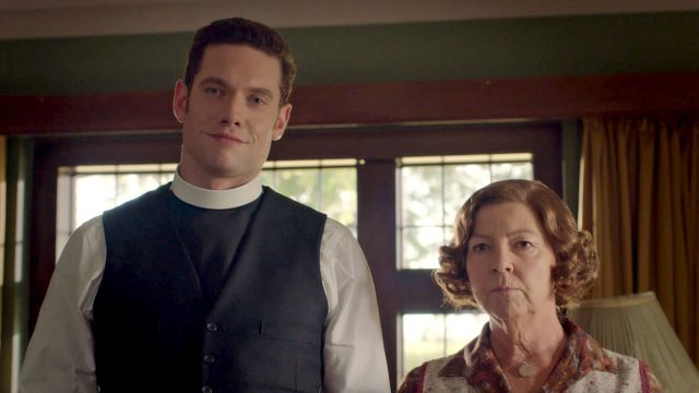 Tom Brittney and Tessa Peake-Jones in Grantchester, Season 5, Episode 2