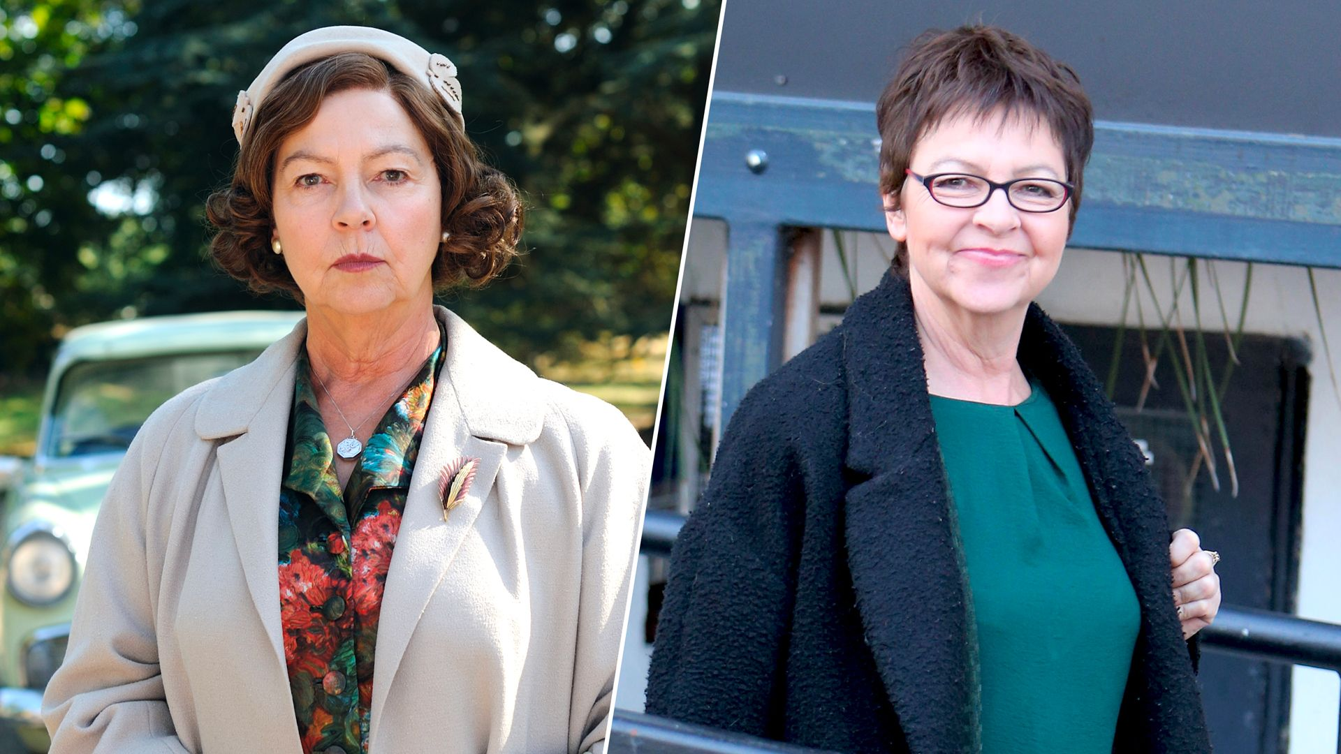 Tessa Peake-Jones as Mrs. C in Grantchester on MASTERPIECE PBS