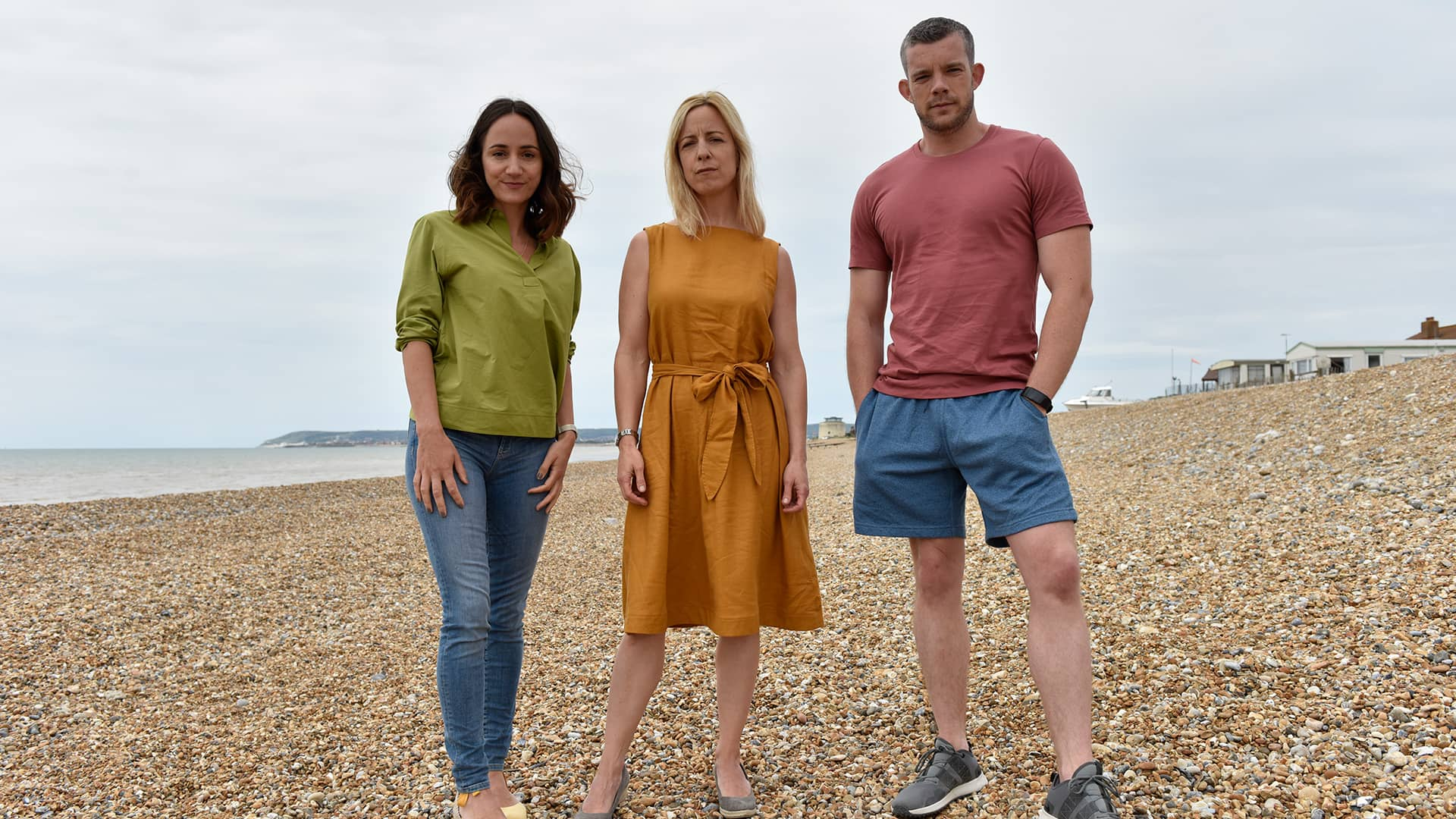 Lydia Leonard, Claudie Blakley and Russell Tovey in Flesh and Blood, Episode 4
