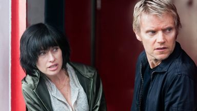 Maimie McCoy and Marc Warren in Van der Valk, Episode 3