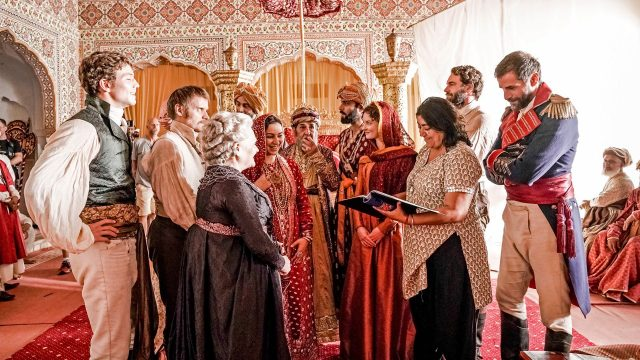 The cast of Beecham House during filming