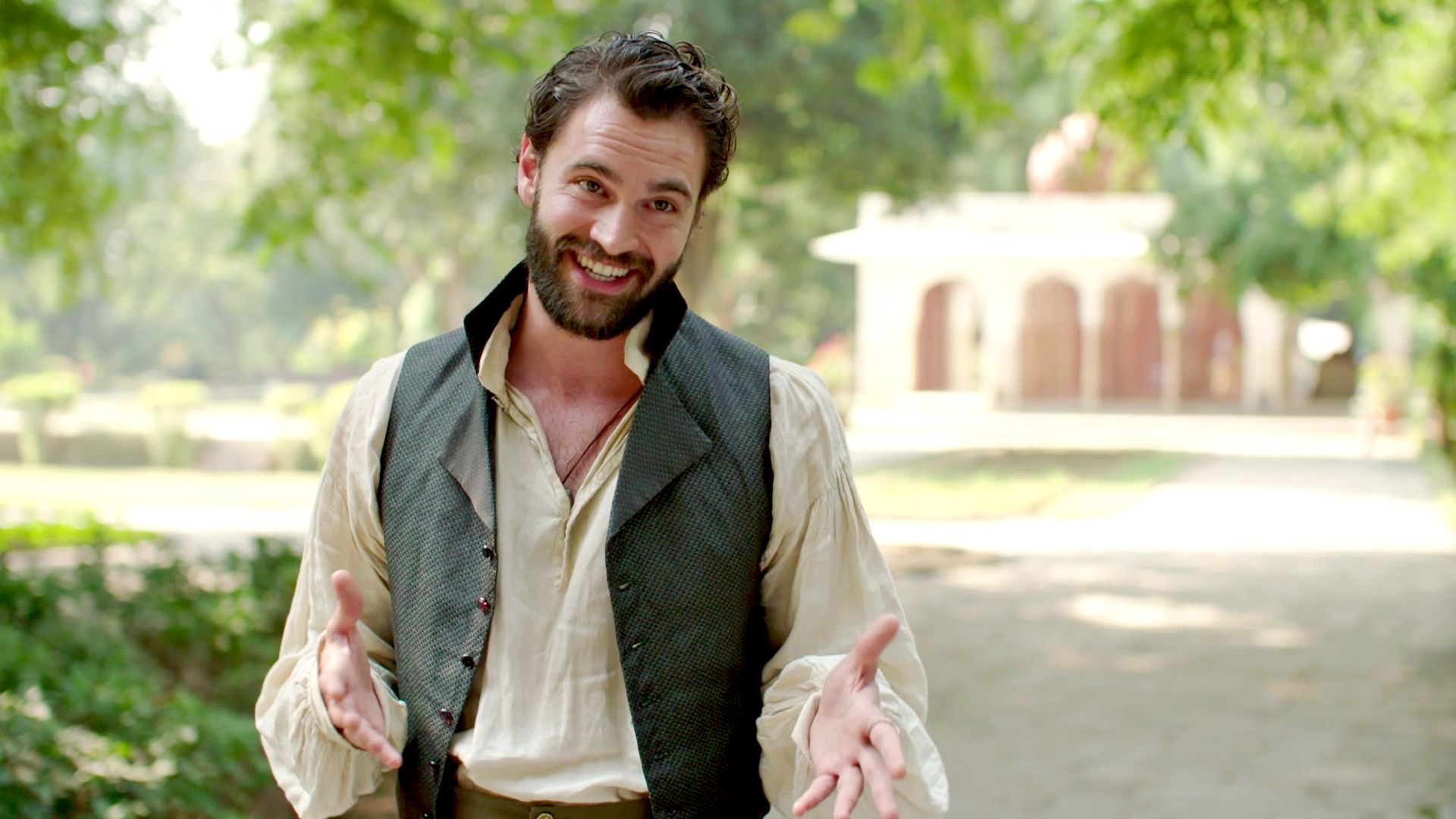 Tom Bateman on the locations and sets of Beecham House