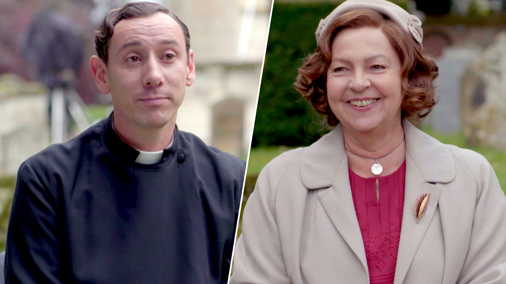 Grantchester Season 5 Al Weaver and Tessa Peake-Jones in Do You Know Your Co-Star?